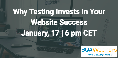Why testing invests in your website success  January, 17 2018 | 6 pm CET