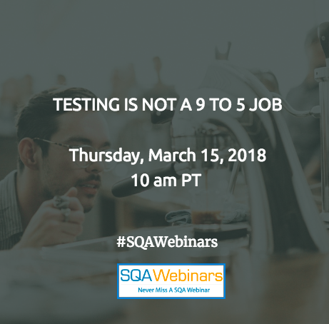 TESTING IS NOT A 9 TO 5 JOB by : Applitools