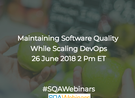 Maintaining Software Quality while Scaling DevOps #microfocus #sqawebinars26june2018
