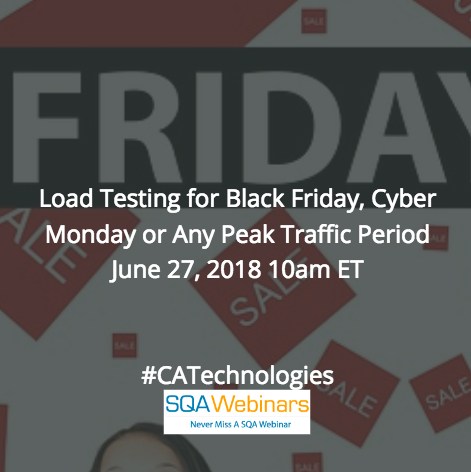 Load Testing for Black Friday #catechnologies #blazemeter #SQAWEBINARS27JUNE2018